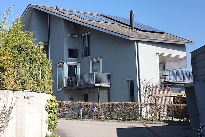 Solaranlagen auf Einfamilienhaus